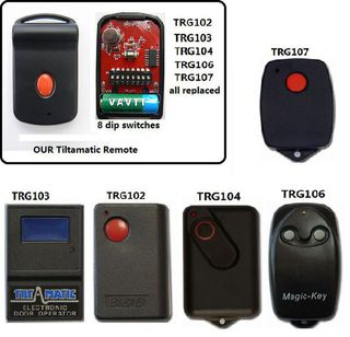 Ahi Trv-300 Keyring Garage Door Remote