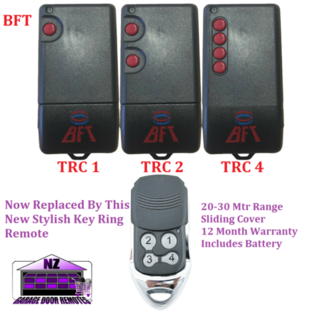 Bft Trc1-Trc2-Trc4 Garage Door & Gate Opener Remote