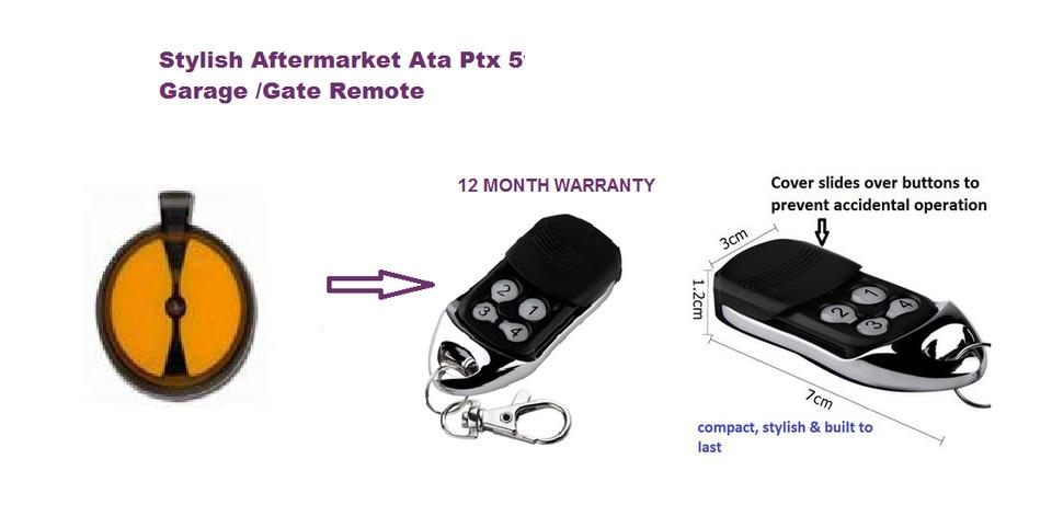 Ata Ptx 2v1 Garage Door Remote Control