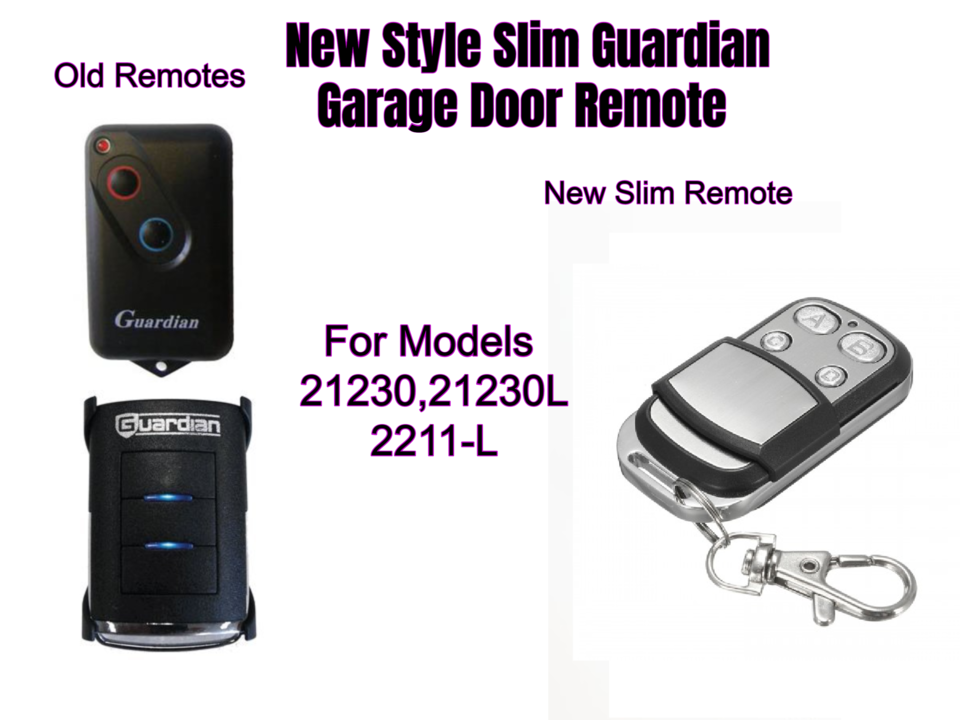 Guardian Garage Door Remote Control 4 Button