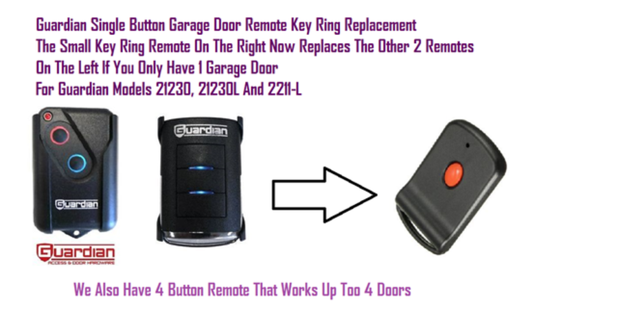 Guardian 1 Button Garage Door Remote For 21230,21230L2211-L