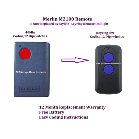 Merlin M2100 Garage Door Remote