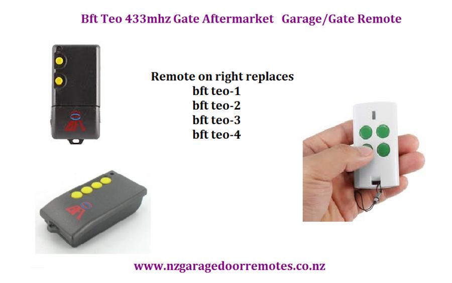 Bft Teo 2 Gate And Garage Door Replacement Remote Nz