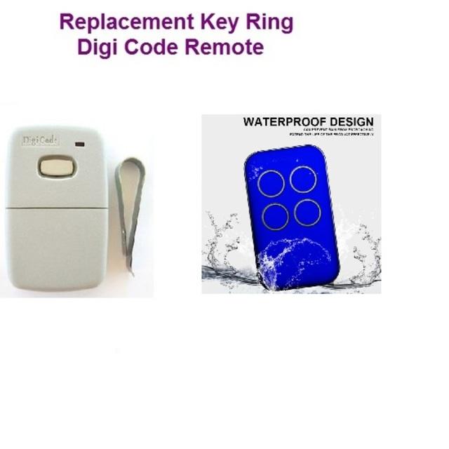 Digi Code Key Ring Garage Door Remote Digi Code Remotes