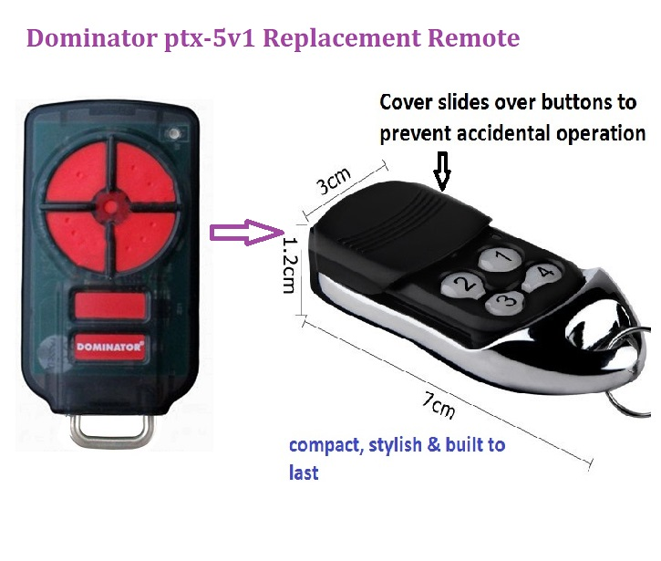Dominator ptx-5v1 Garage Door Remote