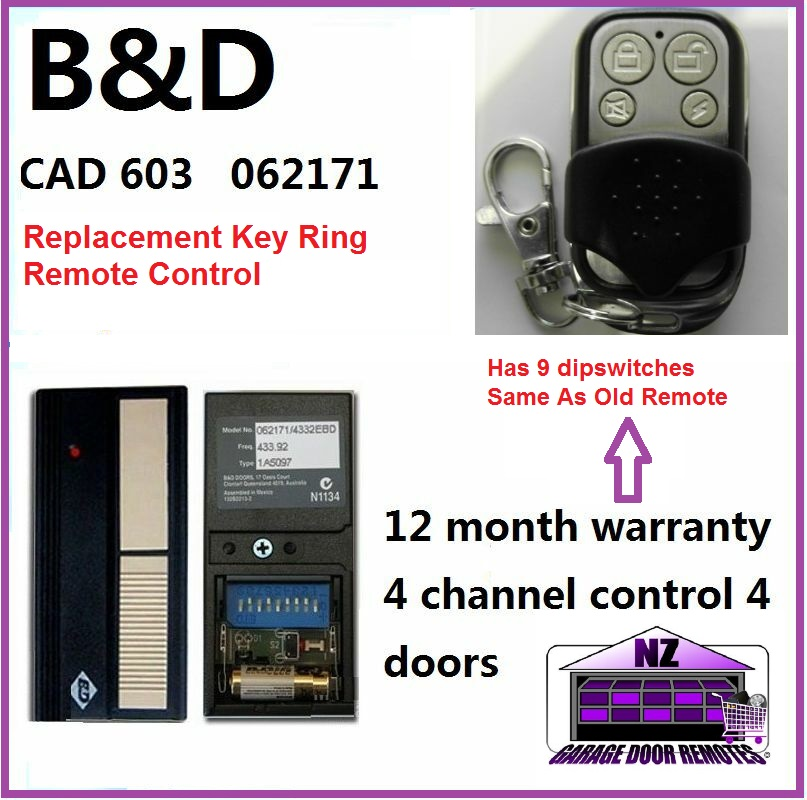 B&D Cad 603/602 Garage Door Remote