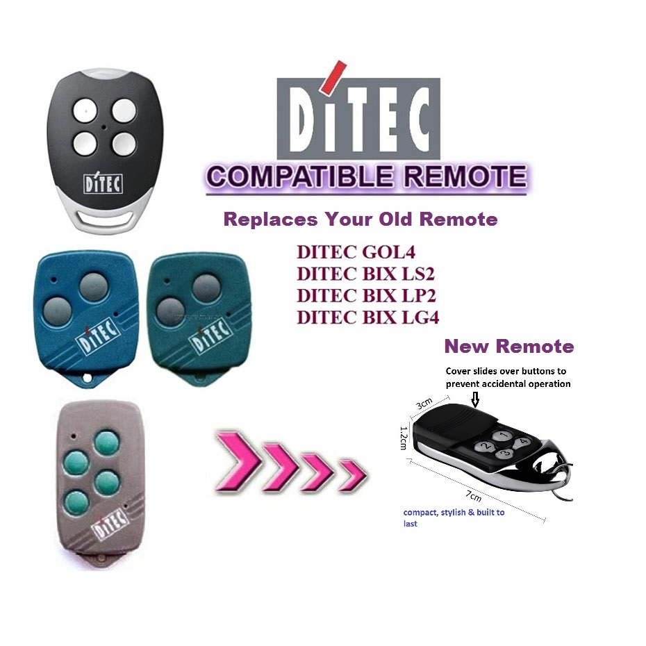 Ditec Gol 4 Garage Door & Gate Remote Control