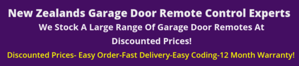 Nz Garage Door Remotes Discount Garage Amp Gate Remotes